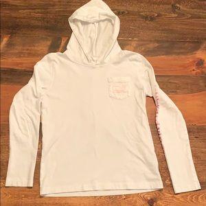 Girls vineyard vines lightweight hoodie